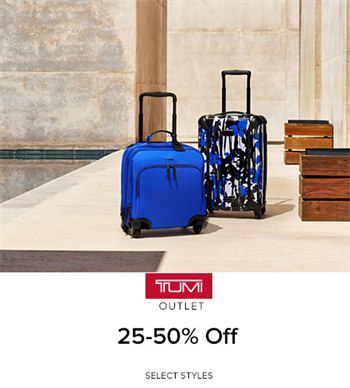 4a5a7822d2cbc5 25-50% Off Select Styles - Tanger Outlets | Deals | TUMI
