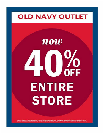 Old Navy Outlet Art