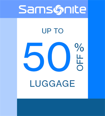 Up to 50% Off Luggage! Art