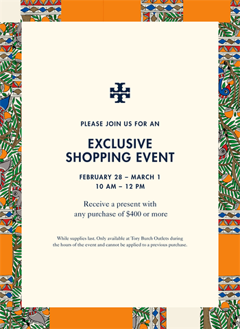 Tory Burch Exclusive Shopping Event Art